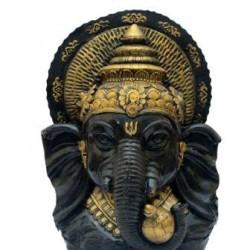 Lord Ganesha Face -Black & Golden Shade