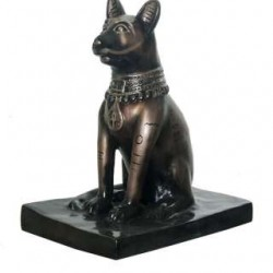 Ancient Egyptian Cat Statue- Metallic