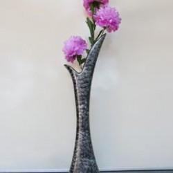 Black Textured - Y Shaped Fancy Flower Vase