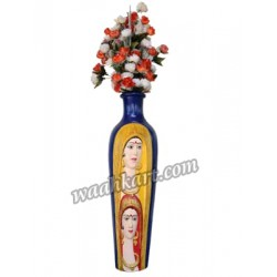 Blue Coloured Lady Face Flower Vase