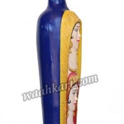 Blue Coloured Lady Face Flower Vase