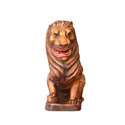 Brass Color Lion Statue