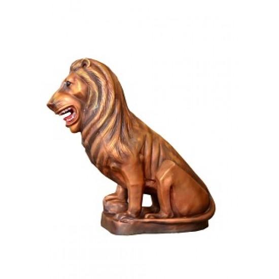 Brass Color Lion Statue
