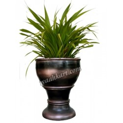 Brownish Black Metallic Planter in Big Size
