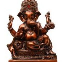 Copper Finished Lord Ganesha Idol