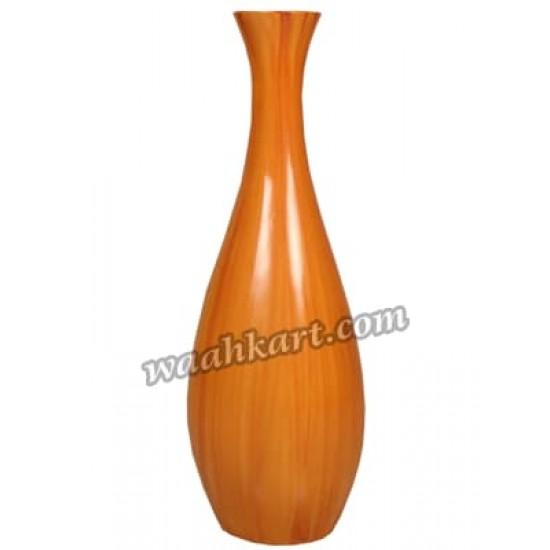 Decorative Plain Flower Vase Orange