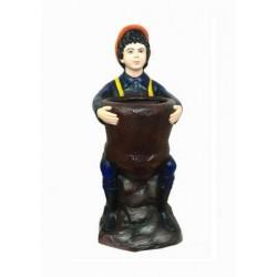 Attractive Boy Statue Dustbin