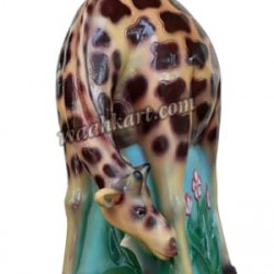FRP Giraffe Trashbin