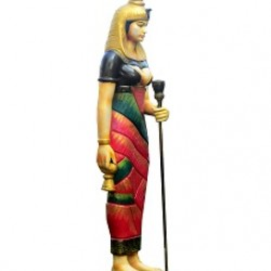 Fiber Egyptian Modern Lady Colorful Guard