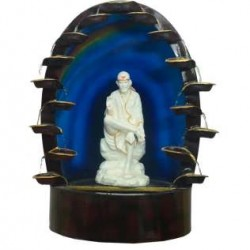 Multistep Diya Fountain With White Sai Baba