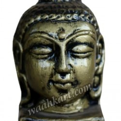 Gautam Buddha Face Idol in Greenish Metallic Colour