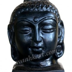Gautam Buddha Face Idol in Metallic Bluish Colour