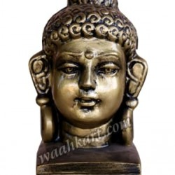 Traditional Gautam Buddha Face Small Size- Light Metallic