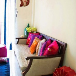 Traditional Gujarati Woman Face Wall Hanging with Dupatta