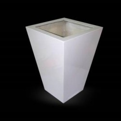 Heighted White Planter