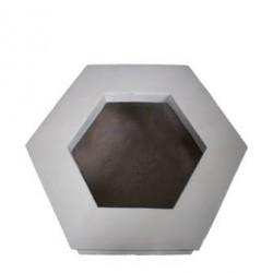 Hexagonal White Planter