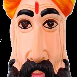 Traditional Rajasthani Village Man Mask Wall Hanging
