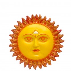 Yellow - FRP Sun Face Wall Mount