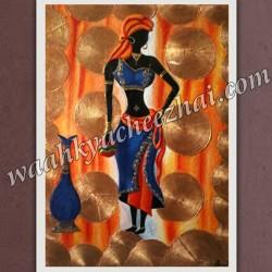 Lady Modern Art, Canvas 3D Painting