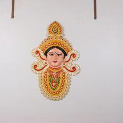 Traditional Goddess Durga-A Beautiful Wall Hanging
