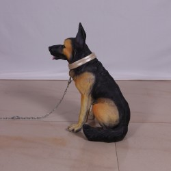 FRP Dog Figurine Statue - German Shepherd