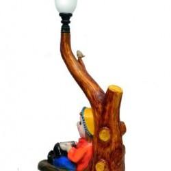 Unique Wooden Look Lamp Post