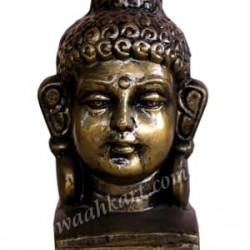 Lord Buddha Face Small Size- Dark Metallic Colour