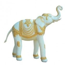 Marble Look -Welcome Elephant Pair