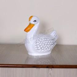 FRP White Duck Showpiece