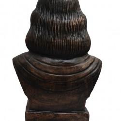 Rabindranath Tagore Statue in Dark Metallic Color