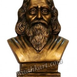 Rabindranath Tagore Table Top Statue in Metallic Golden
