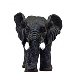 Real Look Grey Small Elephant