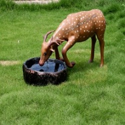 Real Shape Attractive Water Drinking Deer