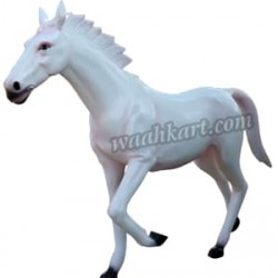 Royal Looking White Horse Statue