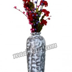 Shiny Beautiful Silver Flower Vase
