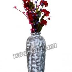 Shiny Beautiful Silver Flower Vase