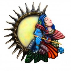 Radha Krishna Colourful 3D Wall Decor