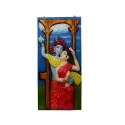 Radhe Krishna Mural Painting