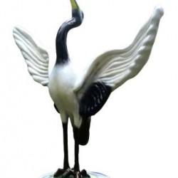 Siberian Crane White Big Bird Statue