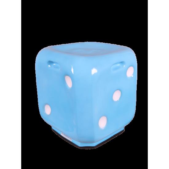 Dice Shape Stool- Sky Blue Color
