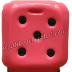 Dice Shaped Stool-In Pink Colour