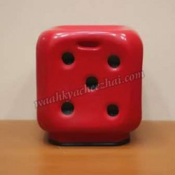 Dice Shaped Stool-In Red Colour