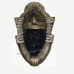 Egyptian Face Black With Dark Golden Wall Hanging