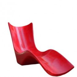FRP Red Lawn Chair - For Swimming Pools