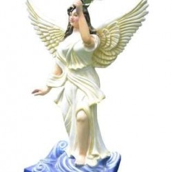 Fairy Standing Statue With Holding Garden Lamp