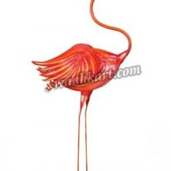 Flamingo Bird Stick Like Legs -Orange Color