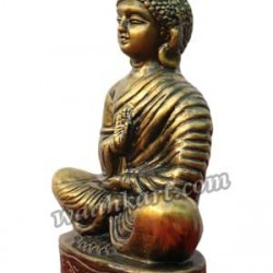 Great Buddha Showpiece In Golden Metallic Look