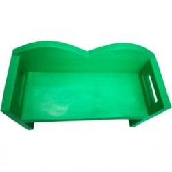 Green Fiber Bench And Desk (6-Set)