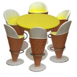 Ice Cream Furniture -set Of 1 Table And 6 Chairs