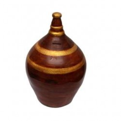 Maroon/Golden Money Bank With Special Security